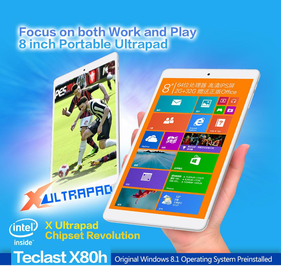 Планшетный ПК 8/Teclast X80H Windows 8 + Android 4.4 Intel Z3735F Teclast X80Hd 2 /32 OTG BT 8 inch lcd screen display for teclast x80h teclast x80hd tablet pc glass touch panel free shipping