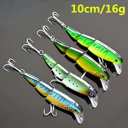 3 Sections Fishing Lure Minnow 16g 10cm Floating Lures Hard Bait Top Water Wobbler Swimbait JT077(China (Mainland))