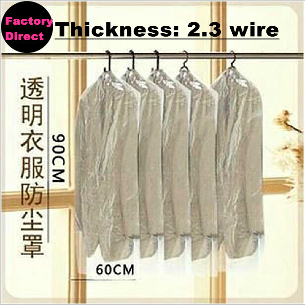 Free shipping New 20PCS/Lot dust cover suit bag garment bags clear color for prevent dust Dust cover suits(China (Mainland))