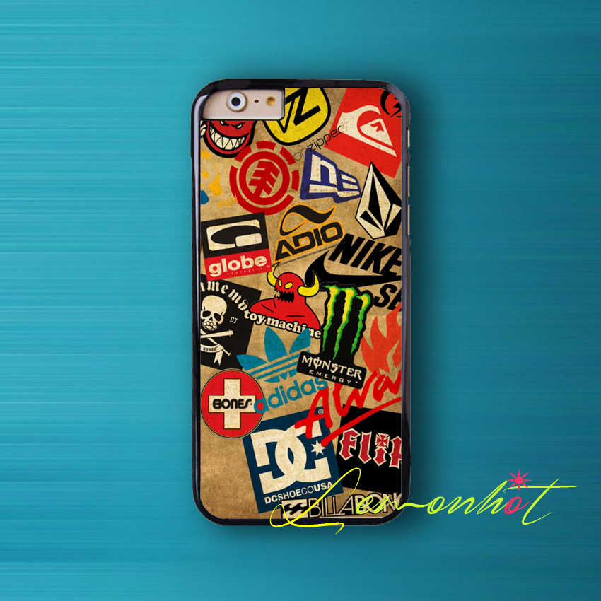 Coque Skateboard Logos Skate Wallpaper Skin Case for iPhone SE 5 5S 5C 4 4S 6 6S Plus Cover for iPod Touch 6 iPod Touch 5 Case.(China (Mainland))