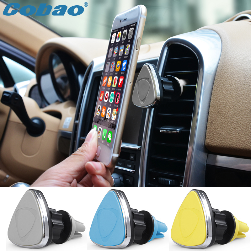 Universal car magnetic phone holder 360 rotating air vent magnet mount holder stand for mobile dashboard for all smartphone(China (Mainland))