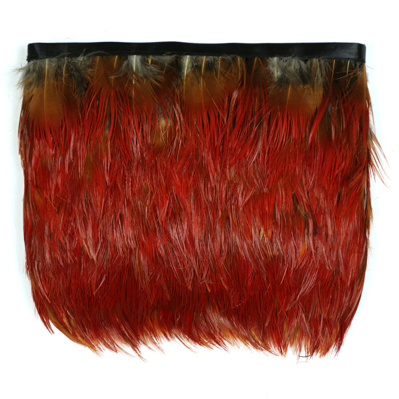 Per Yards natural red rooster feather trim Fringe DIY decoration, wedding decoration items, clothes and accessories(China (Mainland))