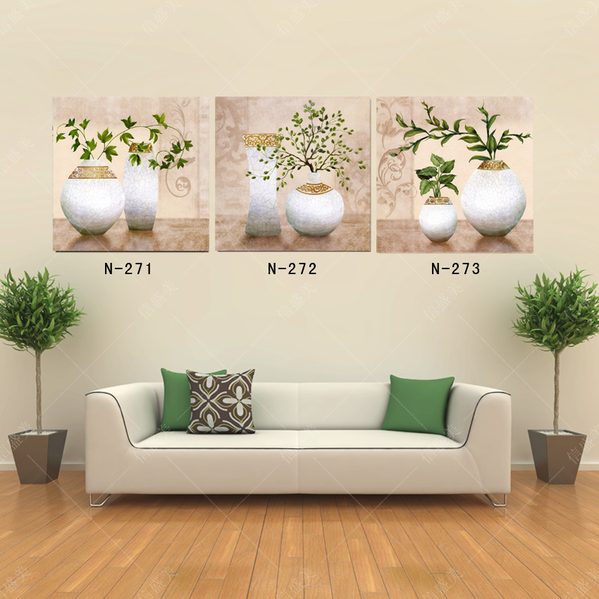 Unframed Floral Art Oil Painting Canvas Painting Home Decor Wall Pictures For Living Room Canvas Art Picture 3 Piece Canvas Art(China (Mainland))