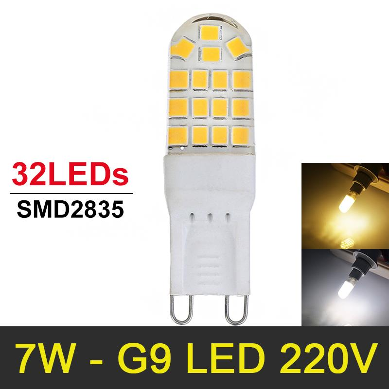 Гаджет  HOT Sale 7W G9 LED Lamp Chandelier SMD2835 220V 230V 240V Bombillas LED Bulb Light Replace Halogen Lamp Lights Warm/Cold White None Свет и освещение