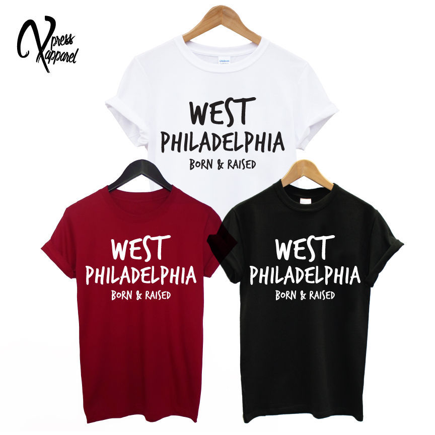 WEST PHILADELPHIA PRINTED MENS T SHIRT FRESH PRINCE BEL AIR WOMENS SWAG TEE TOP TShirt Tee Shirt Unisex More Size and Colors()