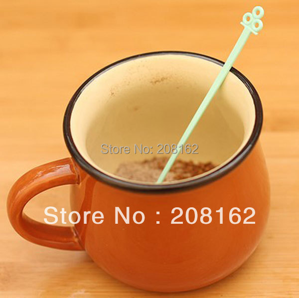 Cute Colorful Long Handle Stirring Rod Tea Coffee Stirring Spoon Drink Stirrer Stirring Bars 30Pcs Set
