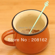 New Cute Colorful Long Handle Stirring Rod Tea Coffee Stirring Spoon Drink Stirrer Stirring Bars 30Pcs/Set