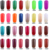 Free Shipping Soak Off UV LED Nail Gel Polish For Salon UV Gel 12Pcs/Lot (10pcs color gel+1pc base +1pc top coat) 343 Colors