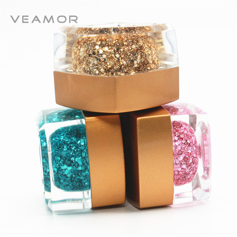 3PCS/LOT Glitter UV Gel Builder Polish Sequins Nail Acrylic Polish Styling Gel Nail Polish Nail Art(China (Mainland))