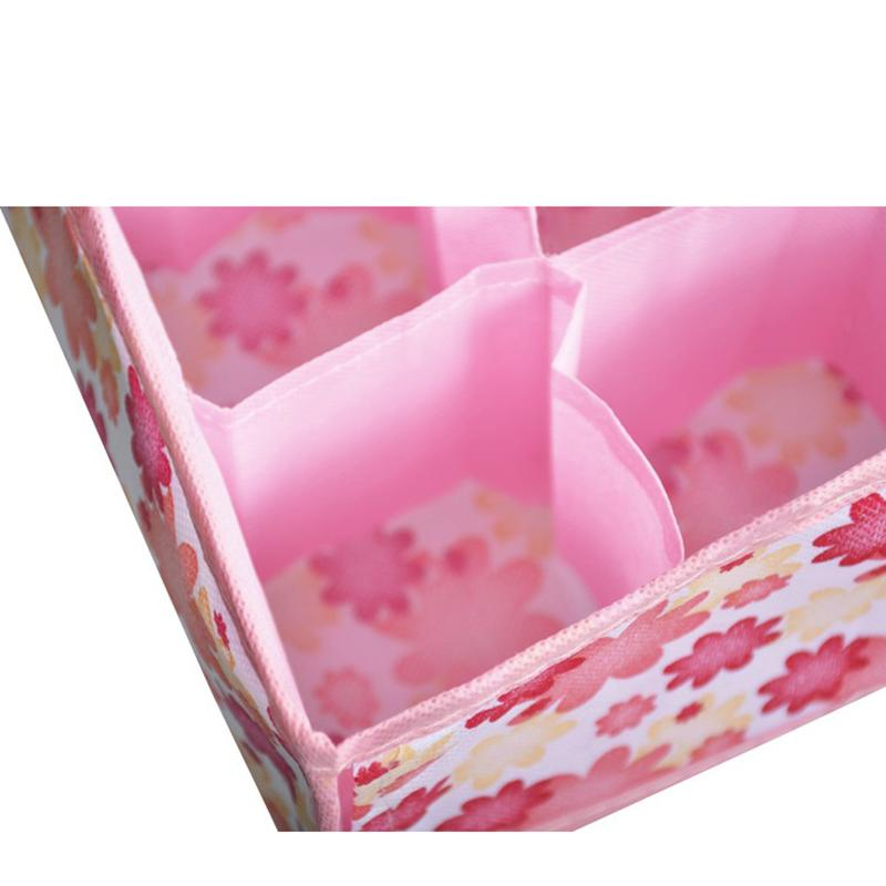 12 Grid Bag Non-Woven Fabric Folding Case Storage Box For Bra Necktie Socks Underwear Clothing organizer
