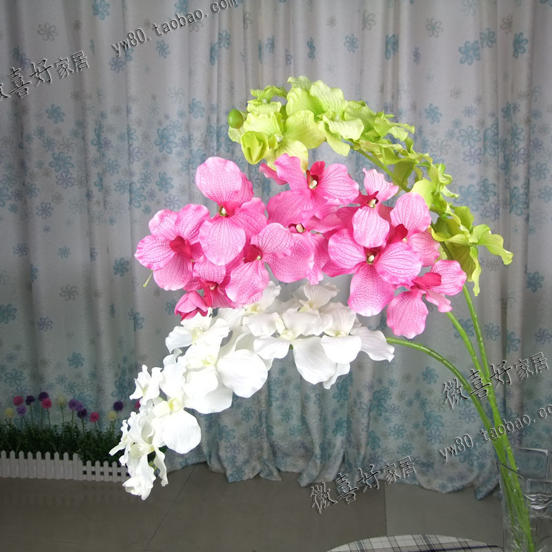 High Imitation New Phalaenopsis Living Room Decorative Floor Silk Flower Wedding Decorations Artificial Flowers Cheap Flowers(China (Mainland))