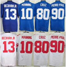 13 Odell Beckham Jr jerseys 10 Eli Manning 80 Victor Cruz 90 Jason Pierre-Paul jersey(China (Mainland))