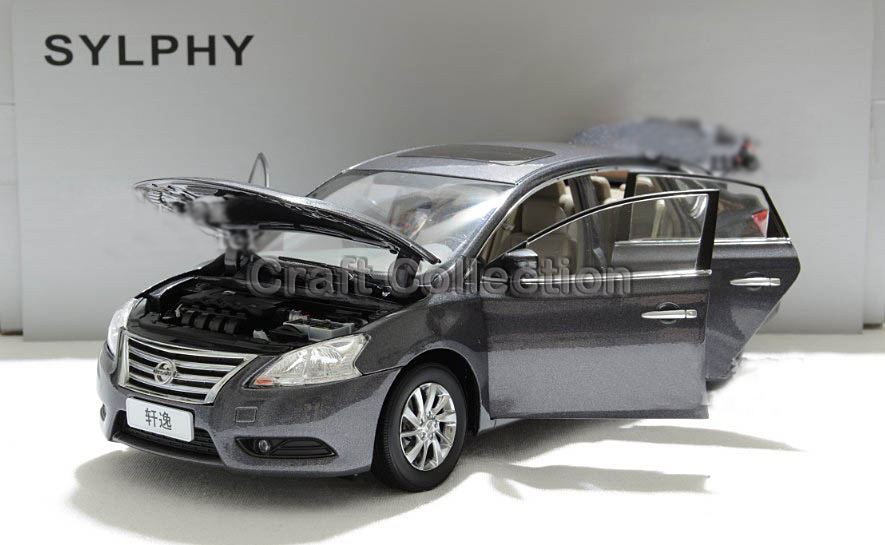 Gray 1/18 Nissan Sylphy Sentra 2012 Scale Models Kids Toys Alloy Model Car Aluminum Die casting Products(China (Mainland))