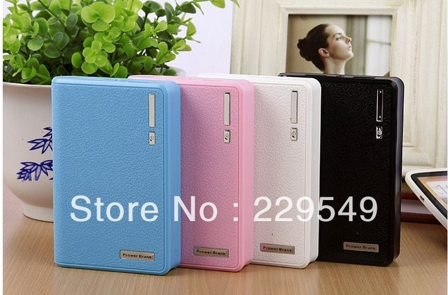 Free Shipping 2013 Hot sale Newest Wallet style 12000mAh Power Bank USB Battery Charger External Battery Pack With LED Lighting