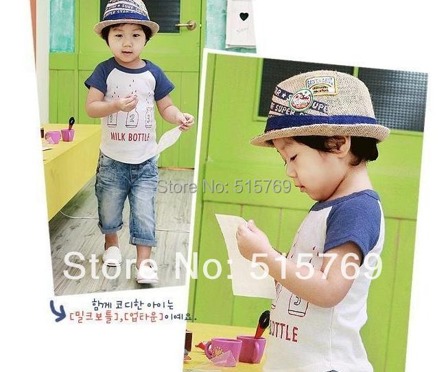 Promotions!!Wholesale Kid's Sun hats/ children hat/kid cap/ Fashion hat/boy and girl cap/jazz cap top hat(China (Mainland))
