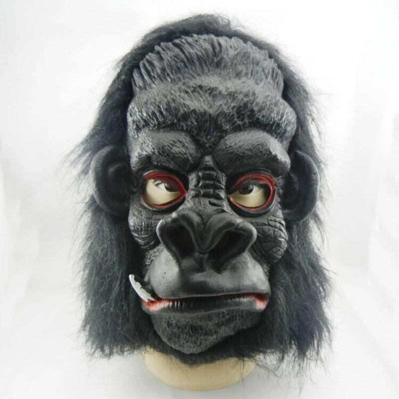 2016 Time-limited New Pvc Animal Adults Tokyo Ghoul Venetian Mask Halloween Performances Big Ears Natural Latex Gorilla Mask(China (Mainland))