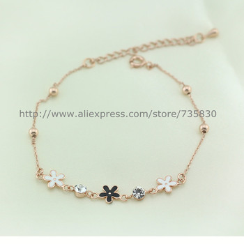 Free shipping Hot Sale Bela fashion jewelry Little Fresh Daisy anklet Not easy fade foot ornaments factory direct wholesale