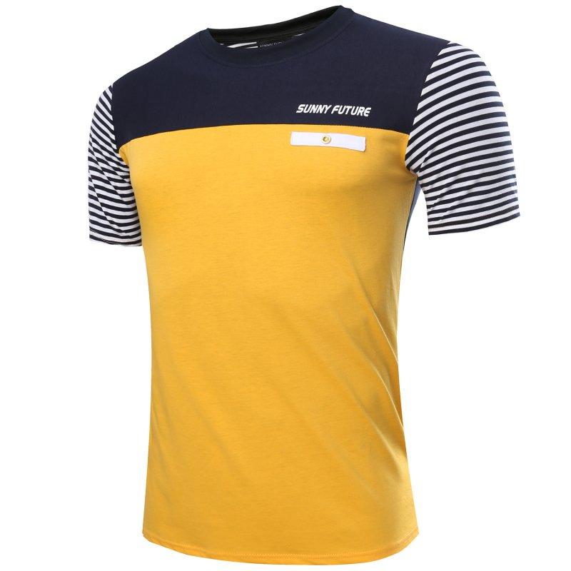Chic Men Summer Fit Crew Neck Slim Casual Tee Shirts Short sleeve T-Shirt Tops Hot YX(China (Mainland))
