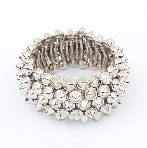 rock punk spike statement stretch bracelet new fashion bracelet wholesale jewelry 2013