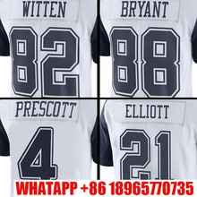Men's #4 Dak Prescott White Color #21 Ezekiel Elliott Rush Limited #88 Dez Bryant Witten #82 Jason Witten Free Shipping(China (Mainland))