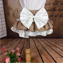 Ruffle Diaper Cover Khaki  White flower girl Bloomer Khaki Frills Baby Girl Panties Toddler Ruffle Skirt Birthday Gift(China (Mainland))