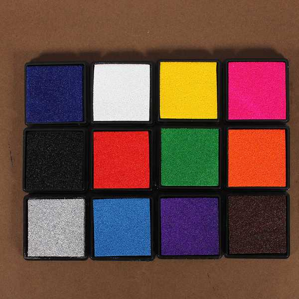 Best Promotion New All-purpose Ink Pad Craft Oil Based Ink Stamp Pad for Rubber Stamps Paper/Wood Hot Sale(China (Mainland))