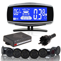 ME3L 8 Rear Front View Car Parking Sensor Reverse Backup Radar System with LCD Display Monitor