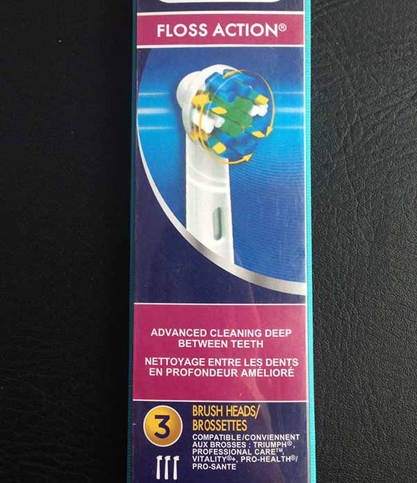 Oral-B Floss Action Replacement Electric Toothbrush Head
