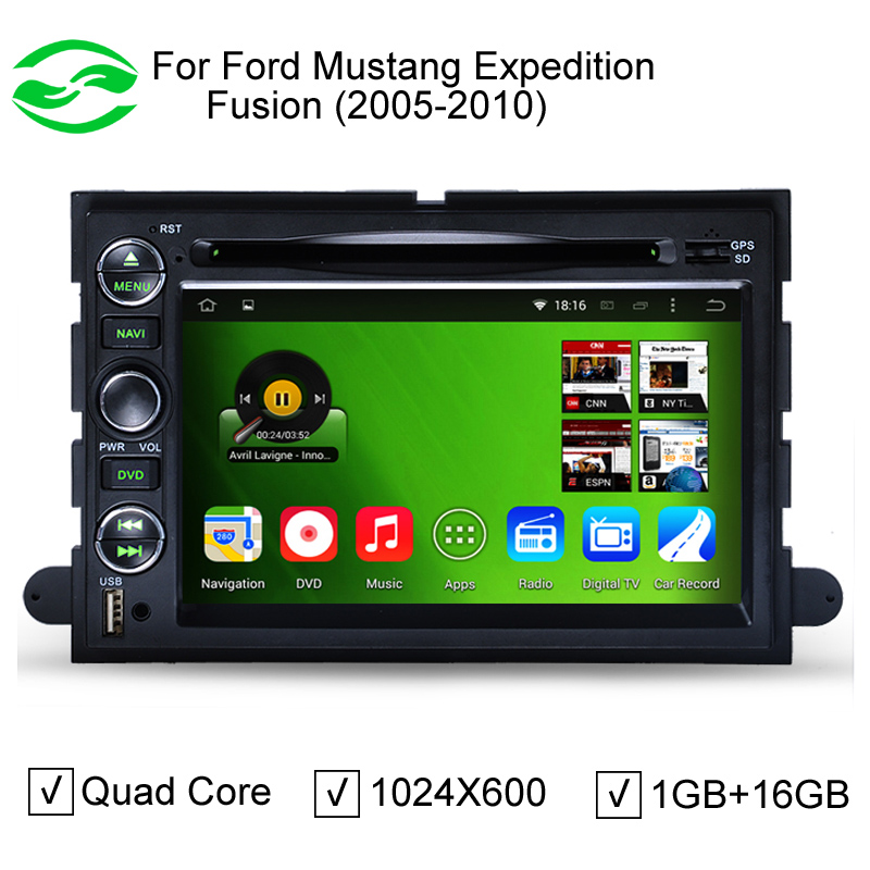 HD 1024*600 Pure Android 4.4.4 Capacitive Screen Car DVD GPS For Ford Focus Fusion Expedition F150 F500 Escape Edge Mustang(China (Mainland))