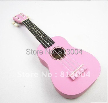 new pink little guitar / 21 inches of S type ukulele/Hawaii small guitar/Soprano length 53 cm ukulele(China (Mainland))