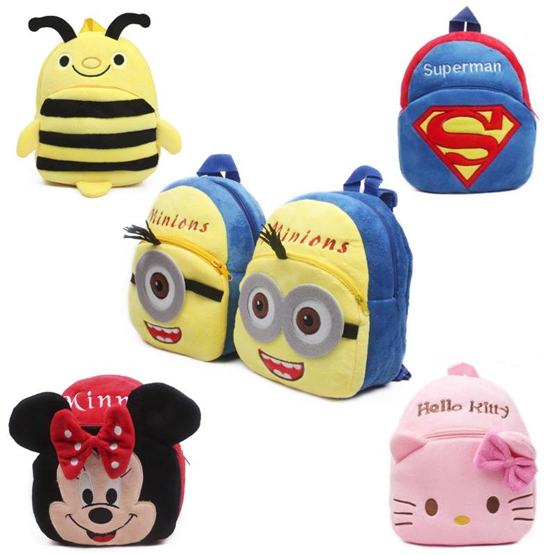new-cute-cartoon-kids-plush-backpack-toys-mini-schoolbag-children's-gifts-kindergarten-boy-girl-baby-student-bags-lovely-mochila