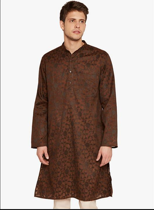 India Men's clothing Men's casual jackets In the long section long-sleeved gown Traditional indian clothing(China (Mainland))