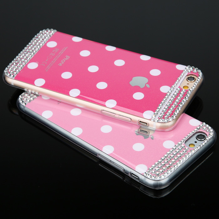For iphone 6 / 6 Plus 6G Case Cover Soft Polka Dot Candy Color Lovely moblie phone cases shell Protector back Cover Cases/bags(China (Mainland))