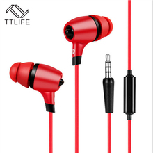 TTLIFE Brand Best Sound Powerful Bass In-ear Earphones Unisex Earbuds With Microphone For Ios Android Mobile phones Computer(China (Mainland))