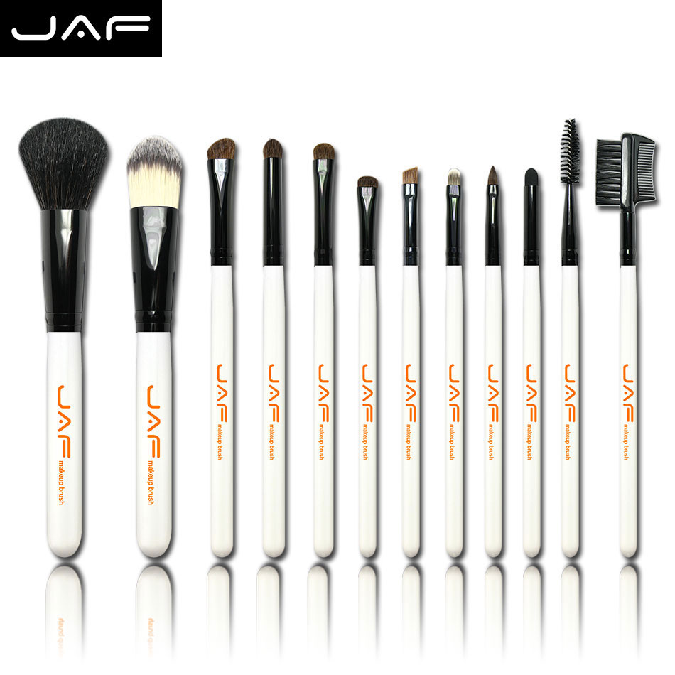 Free Shipping 12PCS Makeup Brush Set  Professional with Black Leather Case Cosmetic Brushes Tools (J1201P)<br><br>Aliexpress