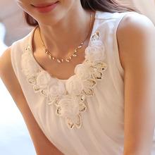 Buy blusas femininas 2016 women blouses blusa feminino womens tops fashion Sleeveless Chiffon Shirt Fashion XXXXL Plus Size White for $3.33 in AliExpress store