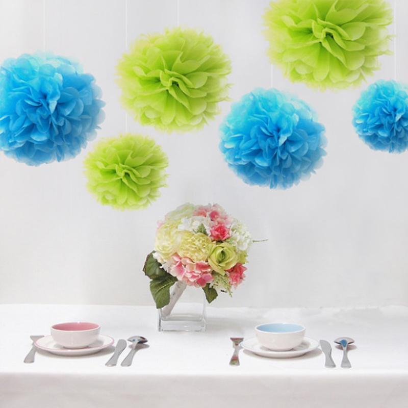 1pcs 8inch Artificial Flower Balls Paper Flower Balls Tissue Paper Pom Poms Wedding Decoration Paper Balls Party Decor pompom(China (Mainland))