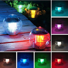 Buy Solar Power Waterproof Pool LED Floating Light Lamp 7Colors Changing Pool Pond fountain floating rainbow Light Lamp 6V for $9.05 in AliExpress store
