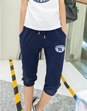 2015 new summer style fashion women clothing cotton knee length pants loose big yards guard pants casual sports pants female(China (Mainland))