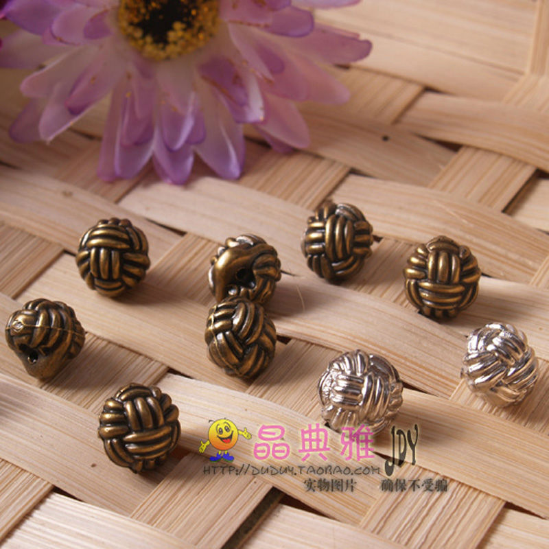 30Piece/Bag Hemp Ball Chinese Knot Rope Buttons Monopoly Deduction Child Deduction Lovely Clothing Accessories Model A1(China (Mainland))