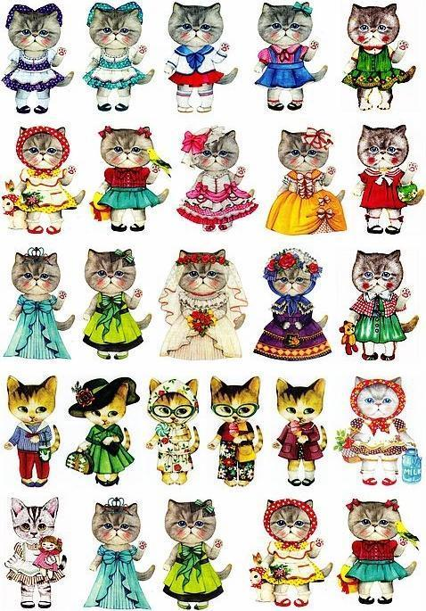 A4 victoria cat beauty painting heat press film paper iron-on heat transfer paper DIY bag ornaments 21*29.5cm 4pcs/lot(China (Mainland))