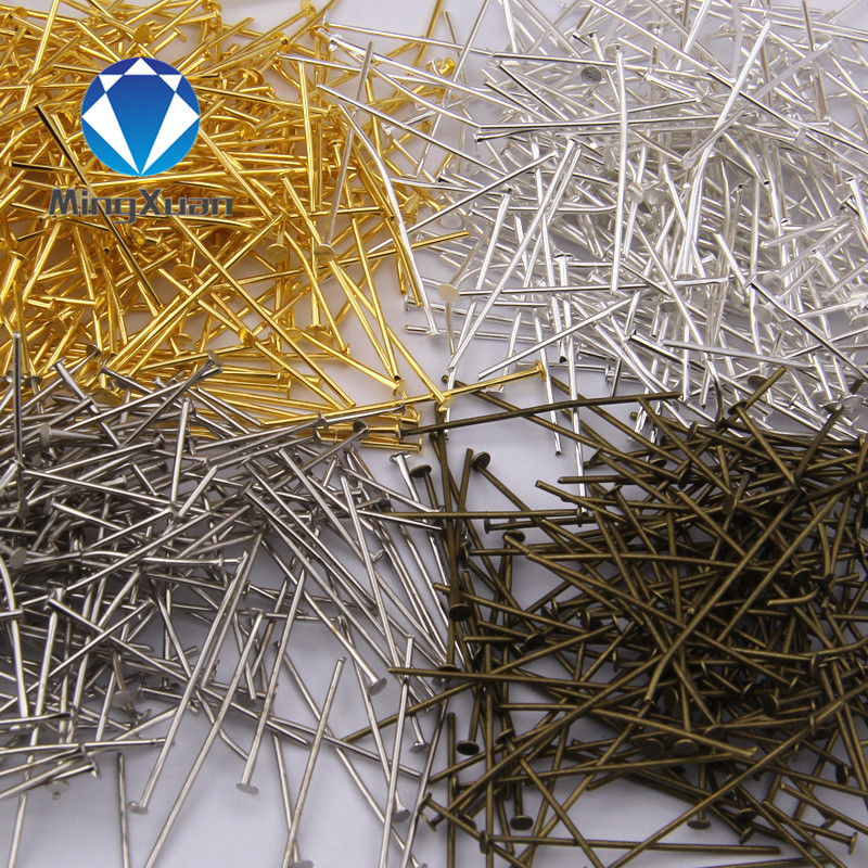 18-40mm (21 gauge) 200pcs/bag jewelry findings flat head Pins DIY for earring,bracelet and necklaces 6colors(China (Mainland))