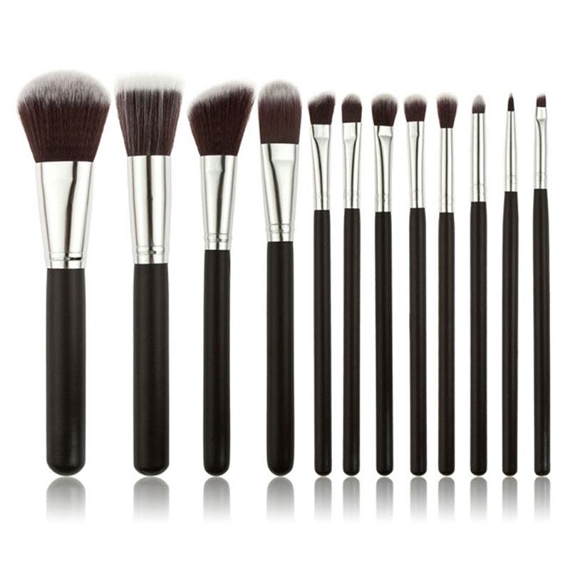 12pcs Professional Makeup Brush Sets Powder Blush Eye Shadow Eyebow Facial Care Cosmetics Foundation Brush Beauty