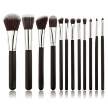 12pcs Professional Makeup Brush Sets Powder Blush Eye Shadow Eyebow Facial Care Cosmetics Foundation Brush Beauty Make up Tools