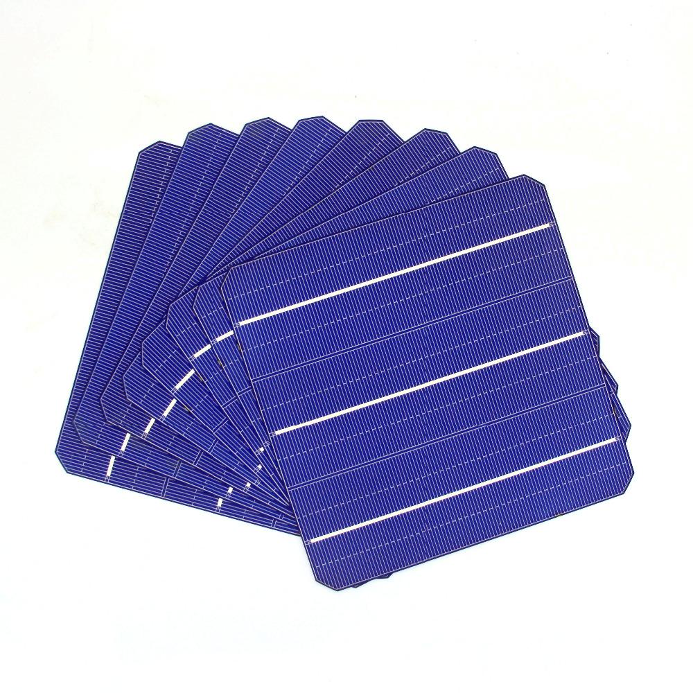 Hot 800Pcs 156 * 156MM High Efficiency Photovoltaic Mono 6*6 Monocrystalline Silicon Solar Cells For DIY Solar Panel(China (Mainland))