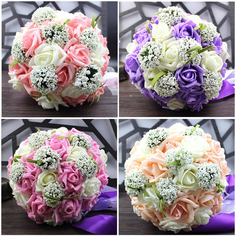 Homemade Wedding Bouquets Silk Flowers : Beautiful wedding bouquet all handmade bridal flower
