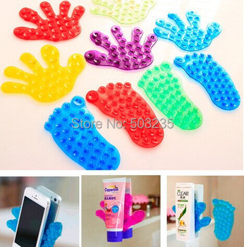 Romdon New Strong Double Magic Plastic Sucker Bathroom Double Sided Suction Palm PVC Suction Cup Holder H2