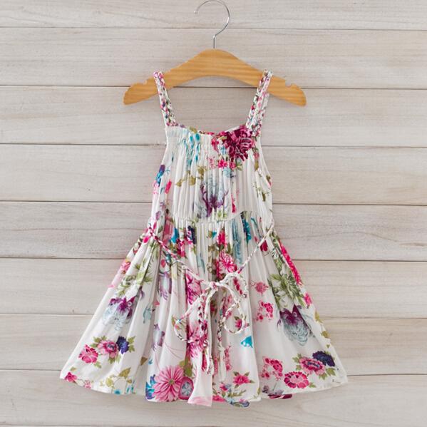 Free shipping,5 Colors,2015 New Summer,Girls dress,Children dress,Children/Kids clothes,Floral,Wholesale,1832<br><br>Aliexpress