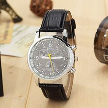 2015 new men costly quartz watches fashion leisure business men s watch leather strap brand sports