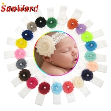 Buy Hot 21Pcs Chiffon Flower headband newborn girl Headbands Photography Props hair accessories Girl cute hair band WSep7 for $6.24 in AliExpress store